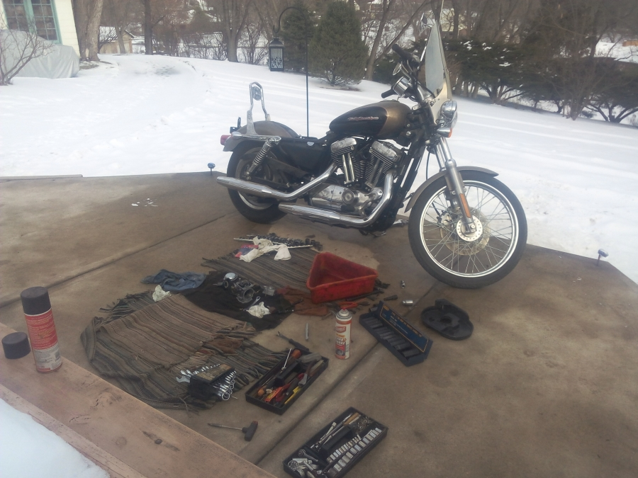 This 2004 harley davidson sportster 1200 custom, sat for 2 years.  The carburetor was clogged and needed repair.  The motorcycle would not run, wouldn't even start.  But after PMC Super Tuners cleaned and rebuilt the carburetor/fuel system, changed a leaky oil sending unit and gave it a tune up, she fired right up!