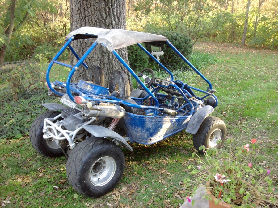 This fun, little, two seat, atv 150cc hammer head had quit running in the field.  PMC Super Tuners diagnosed the fuel system as a problem and repaired the no start, on the spot.
