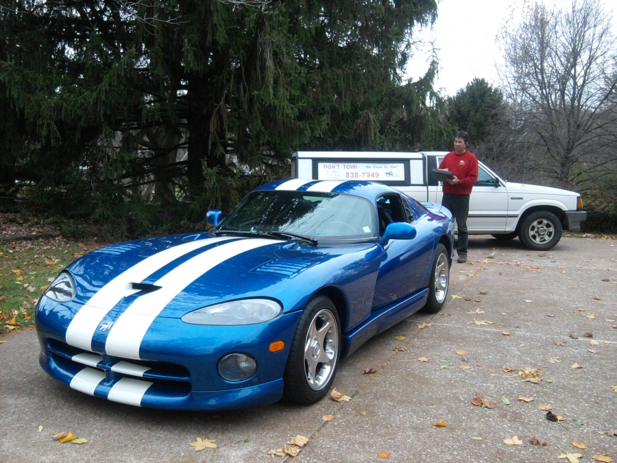On this 1996 Dodge Viper GTS, the customer was on a drive enjoying the river road, when his check engine light came on. We can help to fix an automotive problem on hi performance, sports and classic cars on the spot.