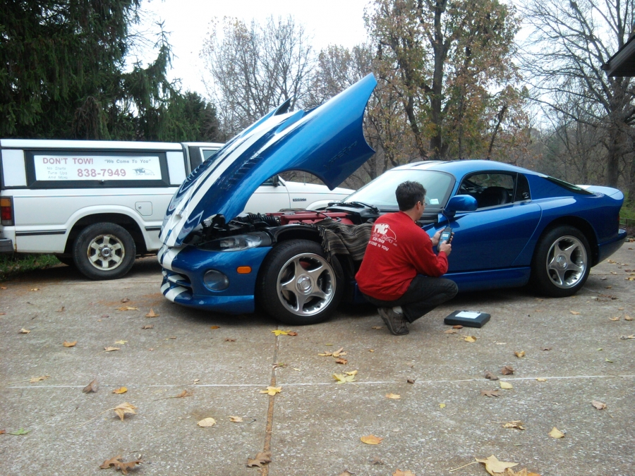 Car Repair Computer Diagnostics on this 1996 Dodge Viper GTS. The Tech performed the necessary repairs, cleared the codes, road tested the Viper, re-scanned the system. Now the P0132 code is gone, and the car is performing back to factory specifications.