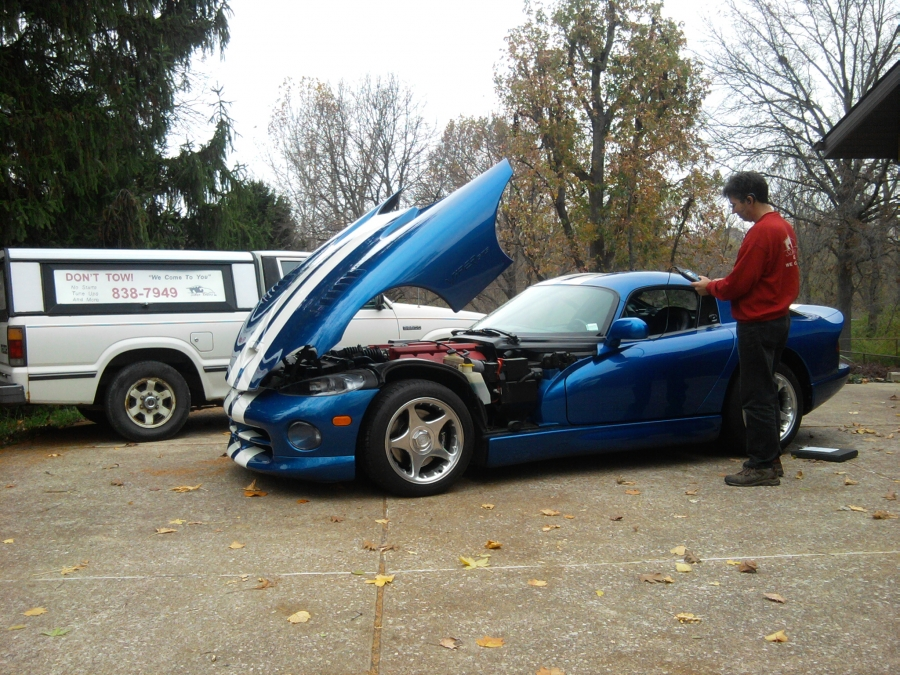 Computer Scan on this 1996 Dodge Viper GTS. The technician wrote up his findings and recommended to repair the Oxygen Sensor Circuit. The customer agreed to the recommended repairs.