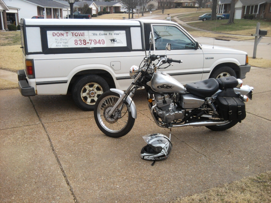 Motorcycle Repair Technician, This 2008 Honda Rebel 250 had been in storage for a couple of years, which caused carburetor problems. After a carburetor rebuild/cleaning on the spot, it runs like new again.