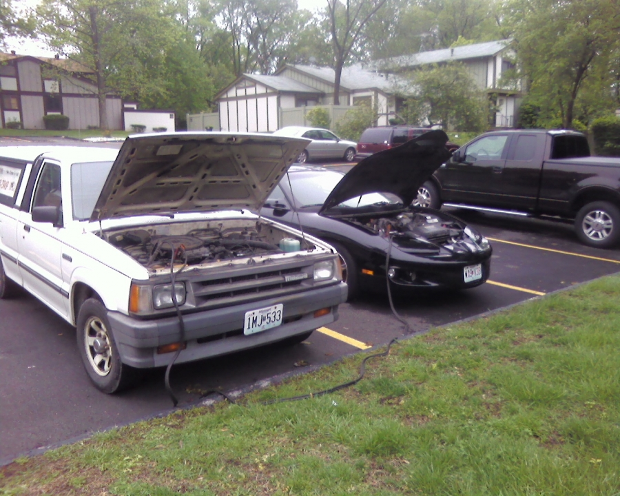 This 2002 Pontiac Firebird had a dead battery.  PMC Super Tuners went to the customer's home in St. Louis County, diagnosed the problem and delivered a jump start on the spot!